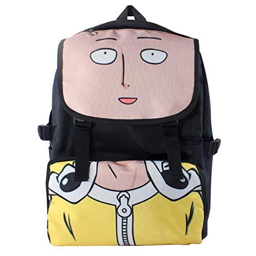 SWVV One Punch Man Saitama Sensei Wasserdichter Laptop-Rucksack/Umhängetasche/Schultasche für Schüler, Jugendliche oder Fans One Punch Man 2
