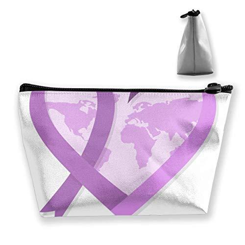 Weltkrebs-Tagesgeld-Geldbeutel-Änderungs-Beutel-Bleistift-Kasten-Mobiltelefon-Kasten bilden Taschen