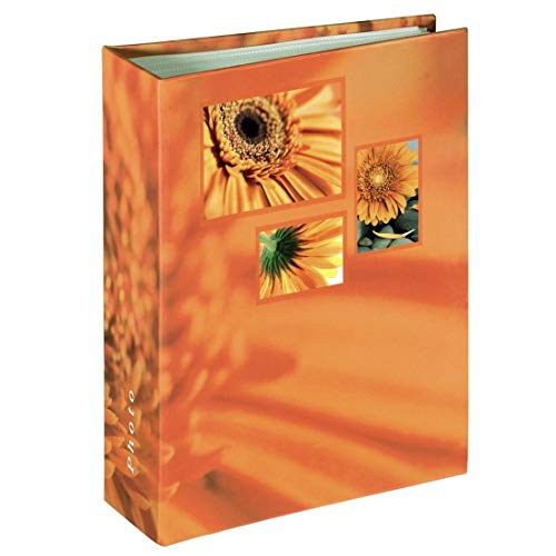 Hama 106260 album, 10 x 15 cm, 100 pagine, 100 foto, arancione