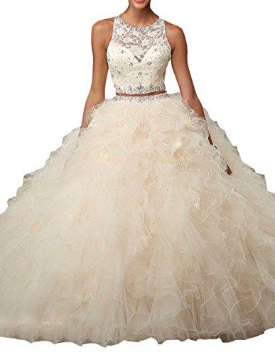 Engerla Damen Kleid Gr. 38, champagnerfarben
