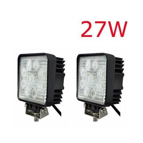 2 x LED Scheinwerfer 27W 2500Lumen 9-30V Arbeits and Rückfahrscheinwerfer L.E.D. Lampe 12V 24V by DELIAWINTERFEL 9v-lampe