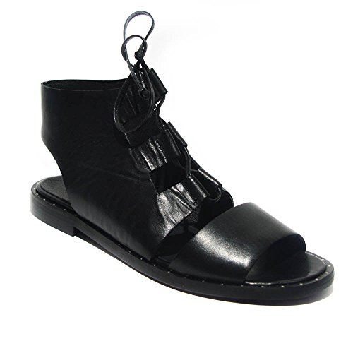 Carmens Padova sandalo basso donna pelle nero art.37058 40
