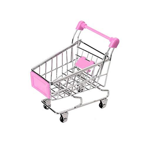 Bébé Enfants Simulation Mini Panier Jouets Handcart Supermarché Panier de Rangement Chariot Jouet Regard