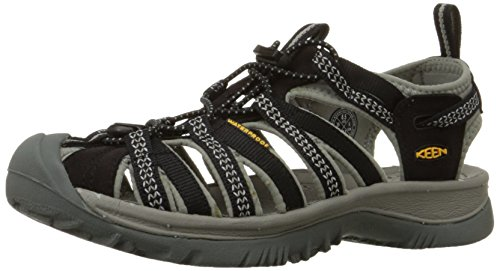 Keen Damen Sandale Whisper 38 Persimmon, Schwarz (Black/Neutral Gray), 35 EU