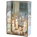 Loberon Windlicht Renesmee, Dekoration, Wohn-Accessoires, Glas, Edelstahl, H/B/T ca. 30/9,5/20,5 cm, klar