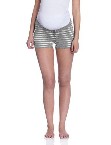 Bellybutton Damen Umstands Schlafanzughose ALINE kurz, Gestreift, Gr. X-Small, Grau (grey  Preisvergleich
