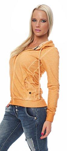 M.O.D Damen Kapuzensweater Sweatshirt Kapuzensweatshirt Langarmshirt SJ333 Bisque