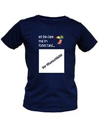 Foto-Shirt für Rentner - Ich bin dann mal im Ruhestand - Bedrucktes Fun T-Shirt mit Wunschbild als besonderes Geschenk