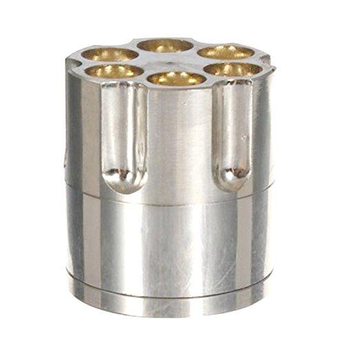 Revolver Kugel-Mühle Rauchmelder-Gewehr-Gewehrkugel Zylinder Shap 3 Stück Metall Pollen Herb Spice...