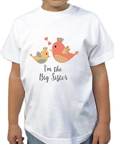I'm The Big Sister Birds Children's Girl's T-Shirt