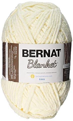 Bernat Petit Polyester Couverture Big Boule de fil, Vintage Blanc