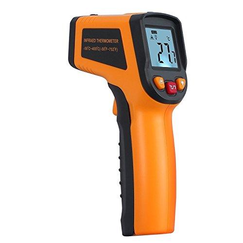 Kamtop Digital Laser Infrarot Thermometer Berührungslose Infrarot Thermometer mit Batterien -58 °F ~ 752 ° F / -50 ℃ ~ 400 ℃ Sofort lesen Thermometer mit Hintergrundbeleuchtung