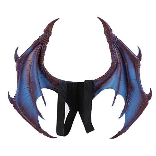 r Halloween Dinosaurio Drachen Kostüm Kind Tier Maske Wing Tail Zubehör Karneval Fasching Kostüm Natürliche Feder Shrug Schal Schulterumhang Cape Gothic Kragen Halloween-Kostüm ()