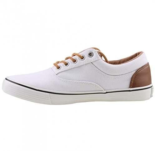 Mustang 1225-301 Womens Lace-Up Flats Weiß