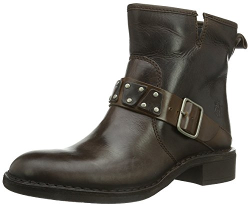 FLY London Fiba Rug, bottes motardes femme Marron (Dark Brown/Camel)