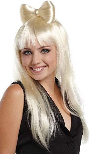 Haarschleife Kostüm Perücke - Fancy Me Damen sexy lang blond oder Licht pink Haarschleife Lady Gaga Nicky Minaj PROMI KOSTÜM PERÜCKE - Blond, One size, Einheitsgröße
