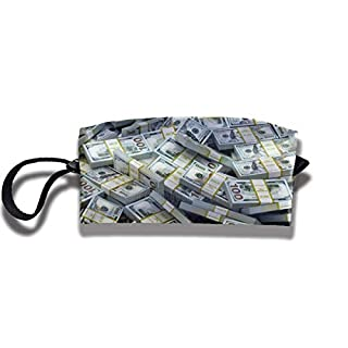 Cosmetics Receive Bag Stationery Pouch Bag - American Dollar Sign Cosmetic Makeup Bag Storage Pouch