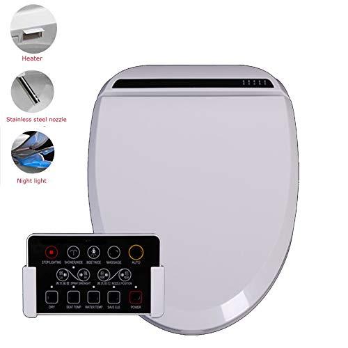 BTSSA Dusch-WC,BidetsEinzelrohrreinigung Wassertemperatur heizung Warmlufttrocknung Induktion Massage Reinigung,Withremotecontrol (Durchlauferhitzer Kaufen)