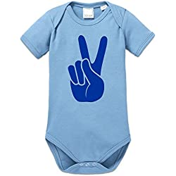 Body bebé Victory Peace Hand Sign by Shirtcity