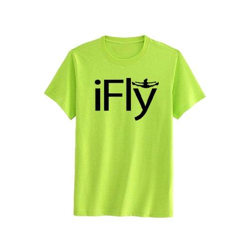 Chosen Bows Ausgewählte Bögen Neon Gelb iFly T-Shirt, Mädchen, Schwarz (mit Aufdruck) -
