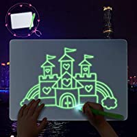 Odizli Magic Doodle Drawing Board Toys for Kids Glow Writing Tablet Draw with Light Fun And Developing Painting Drawing Board Portable Educational Fluorescent Luminous Scribble Board for Art, Write
