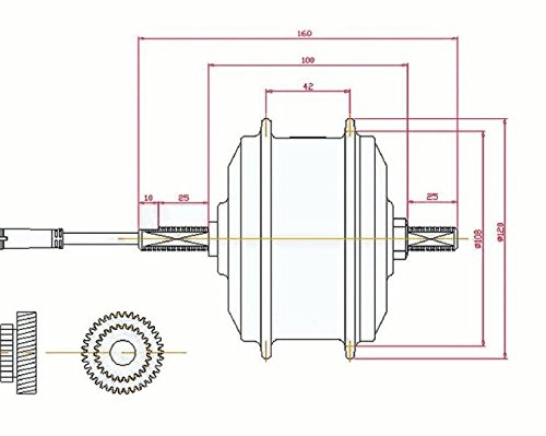 xGerman Vorderrad Nabenmotor 36V/250 W