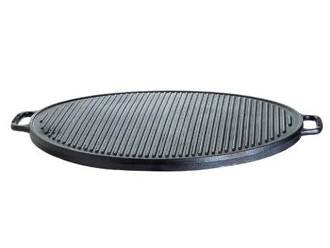 Gusseisenkuss Gusseisengrillplatte massiv, rund, Schwarz, Ø 45 cm