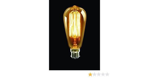 co UK/ HTML Trillion http:////www /Elegance Carbon Fillament Bulb SC 40/W Gold B22/Fitting