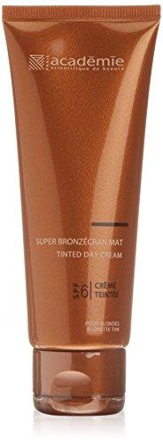 Academie Bronzecran Super Mat  unisex, Tube 75 ml - Getönte Tagescreme mit Meereskollagen, LSF 6,...