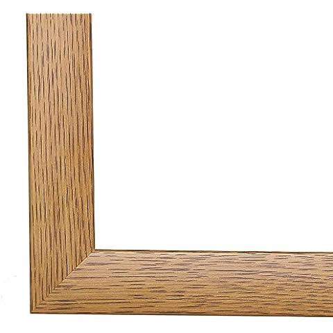 Marco de foto, Marco de cuadro, marcos de imagen OLIMP, 85x108 cm o 108x85 cm in ROBLE RÚSTICO, con vidrio de plástico con antireflejante varios tamaños, marco de MDF con una lámina decorativa (totalmente revestido) , 35 mm de