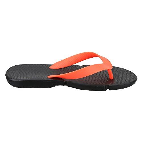 26331d213d1ec5 ... Reebok Men s Fresco Flip Black and Neon Cherry Flip-Flops and House  Slippers - 4 ...