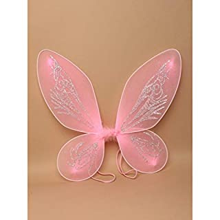 ALANNAHS ACCESSORIES Fairy Wings Wands Fancy Dress Party Net Fantasy Up Outfit Magic Wand -Fairy Wing Pointed Pink