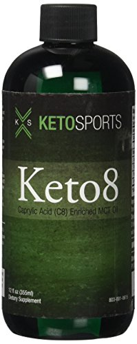 KetoSports Keto8 | Refined MCT Oil to Boost C8 (Caprylic Acid) Content Over 99% Test