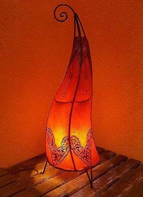 Orientalische Hennalampe Arif orange 70cm von Marrakesch - Lampenhans.de