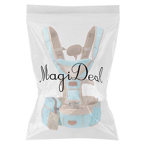 MagiDeal Ergonomischer Baby und Kindertrage die leichte Bauch und Hüfttrage (0-20KG, 3-36 Monate) himmelblau