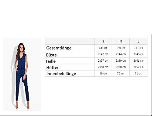 Overall Mode an der Taille gebunden Sportlisch Elegant Jumpsuit Schwarz