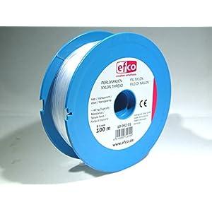 efco Zugkraft Gewinde, Polyamid, transparent, 40kg, 1mm Durchmesser, 100m
