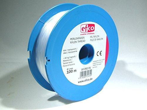 efco Zugkraft Gewinde, Polyamid, transparent, 40kg, 1mm Durchmesser, 100m - 2 1 Nylon-seil