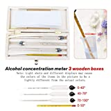 Concentration Meters - Alcohol Instrument 3pcs Set Alcoholmeter Meter Wine Concentration Hydrometer Tester Measuring - Wine Android Wine Meter Meter Radio Stereo 2din Wine Wine Concentration Alco