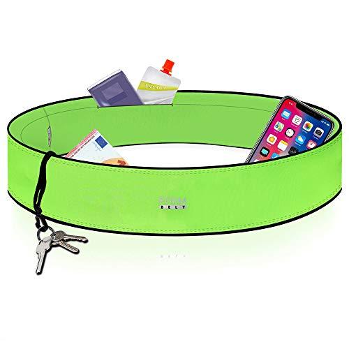 Formbelt® Laufgürtel für Handy Smartphone iPhone 8 X XS XR 11 6-s 7+ Plus Samsung Galaxy S7 S8 S9 S10 Edge Hüfttasche für Sport Fitness Laufen Bauchtasche zum Laufen (neongrün, S)