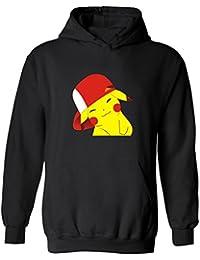 CTOOO Pokemon Go Impresión Sudadera Con Capucha De Pocket Elf Pikachu De Hombre