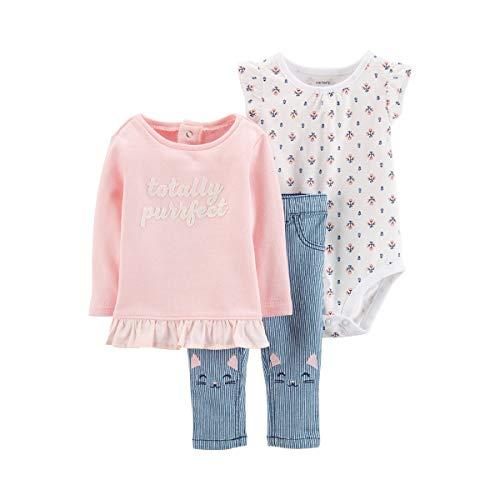 CARTER´S 3-TLG. Set Sweatshirt, Body Kurzarm und Jeans Katze - Carters Pullover
