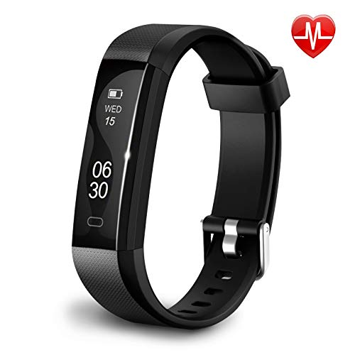 Qualis Fitness Activity Tracker, Heart Rate Monitor Watch, Step Counter Wristband, Sleep...