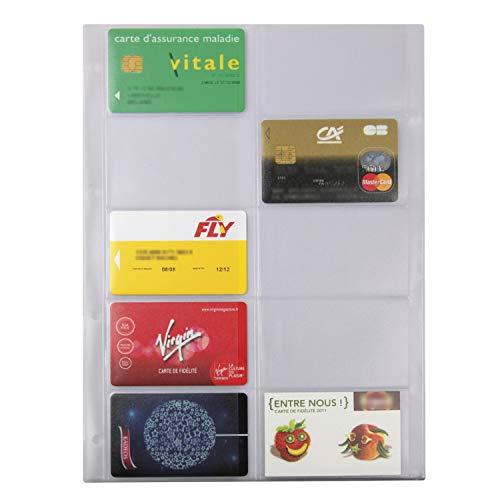 Exacompta 29208 Hüllen für Visitenkartenbuch Exatime 29 5 Stück weiß