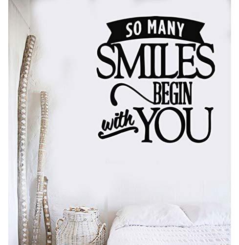 Lsfhb Familie Aufkleber Vinyl Happy Smile Wand Liebe Dich Aufkleber Dekor Home Design52X55Cm