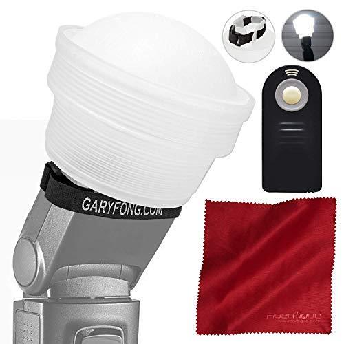 Gary Fong Lightsphere Faltbar mit Speed Mount (Generation 5) für Nikon SB-700 SB-5000 SB-500 SB-300 und alle Speedlightblitze + Kamera-Fernbedienung