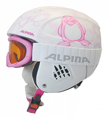 Dem Weißen Jungen Band Auf Clip (Alpina Mädchen und Jungen Skihelm