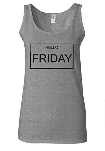 Hello FRIDAY Holiday Week Blogger White Women Vest Tank Top Spotif Gris