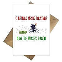 Funny Boris Johnson Christmas Card - Leave The Brussels