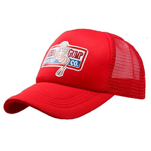 Unisex Sommer Hysteresen-Hut Forest Gump Shrimp-Hut Kult Baseball Trucker Cap Cosplay